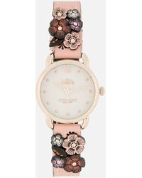 COACH - Delancey Floral Applique Watch - Lyst