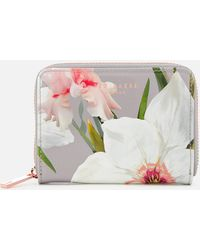 Ted Baker - Chatsworth Bloom Small Zip Purse - Lyst