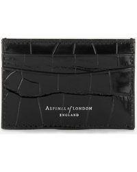 Aspinal - Slim Croc Credit Card Case - Lyst