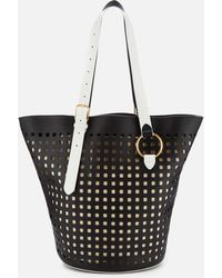 Diane von Furstenberg - East/west Belted Perforated Tote Bag - Lyst