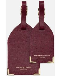Aspinal - Set Of 2 Luggage Tags - Lyst