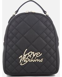 Love Moschino - Matt Quilted Backpack - Lyst