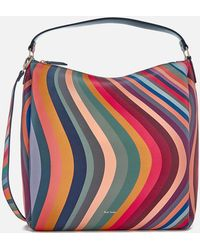 PS by Paul Smith - Women's Zipped Swirl Hobo Bag - Lyst
