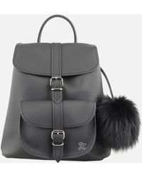 Grafea - Women's Fluffy Fur Pom Backpack - Lyst