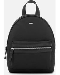 DKNY - Nylon Backpack Black - Lyst