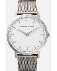Larsson & Jennings - Lugano 40mm Silver Stainless Steel Metal Watch - Lyst