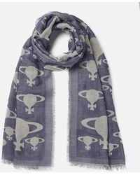 Vivienne Westwood - Stole Orb Print Scarf - Lyst