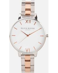 Olivia Burton - Women's White Dial Mesh Watch - Lyst