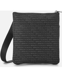 Armani Exchange - All Over Print Cross Body Bag - Lyst