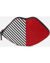 Lulu Guinness - 50:50 Stripe Lip Foldaway Shopper Bag - Lyst
