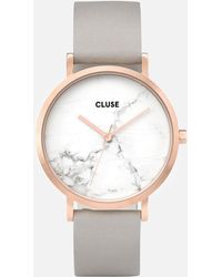 Cluse - La Roche Marble Leather Watch - Lyst