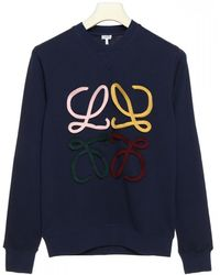 Loewe Blue Cotton Sweatshirt