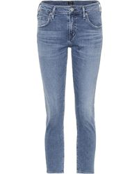 Citizens of Humanity - Elsa Cropped Slim-fit Jeans - Lyst