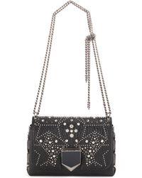 Jimmy Choo - Lockett Petite Embellished Leather Shoulder Bag - Lyst