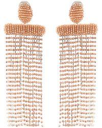 Oscar de la Renta | Beaded Clip-on Earrings | Lyst