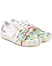 Maison Margiela - Bedruckte Sneakers aus Canvas - Lyst