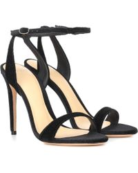 b028bca29bc0 Gucci Willow Leather T-strap Sandal in Metallic - Lyst