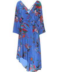 Diane von Furstenberg - Eloise Floral-printed Silk Dress - Lyst
