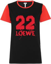 Loewe - Cotton Varsity T-shirt - Lyst