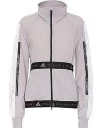 dc615534da5 Lyst - adidas By Stella McCartney Stretch-jersey Jacket in Blue