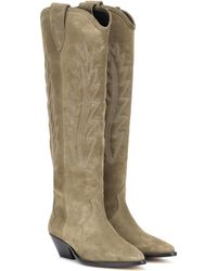 Isabel Marant - Denzy Suede Cowboy Boots - Lyst