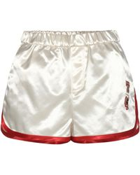 Tommy Hilfiger - Satin Shorts With Appliqué - Lyst