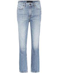Alexander Wang - Jeans Cult cropped a vita alta - Lyst