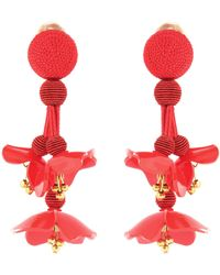 Oscar de la Renta - Falling Clip-on Earrings - Lyst