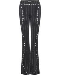 Edun - Embellished Flared Wool Trousers - Lyst