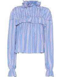 Marni - Striped Cotton Top - Lyst