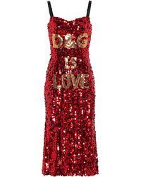 Dolce & Gabbana - Vestido D&G is Love - Lyst
