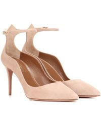 b088561b905 Lyst - Jimmy Choo Vita Patent Leather Lace-up Pumps in Pink