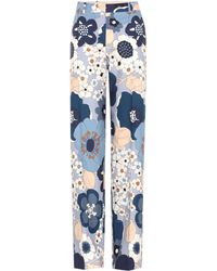 Chloé - Printed Cotton Trousers - Lyst