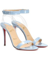 9b8e01ed582 Christian Louboutin - Exclusive To Mytheresa – 100 Patent Leather Sandals -  Lyst