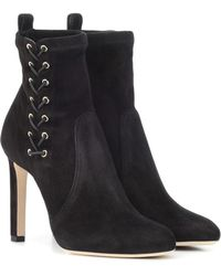 Jimmy Choo - Stivaletti Mallory 100 in suede - Lyst