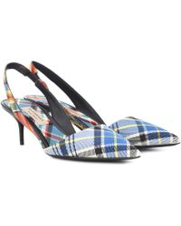 Burberry - Annice Checked Slingback Court Shoes - Lyst