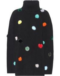 Fendi - Fur-trimmed Cashmere Sweater - Lyst