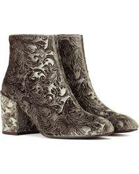Stuart Weitzman - Mona Devoré Ankle Boots - Lyst