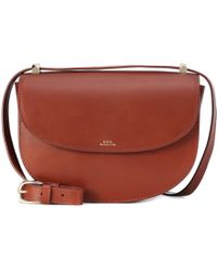 A.P.C. - Genève Leather Shoulder Bag - Lyst