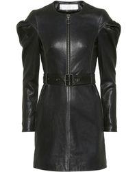 Victoria, Victoria Beckham - Belted Leather Dress - Lyst