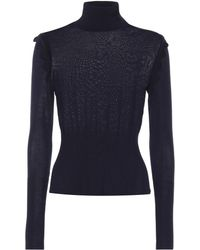Chloé - Wool Turtleneck Top - Lyst