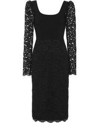 Rebecca Vallance - Le Saint Lace And Crepe Midi Dress - Lyst