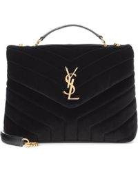 Lyst - Saint Laurent Large Loulou Monogram Shoulder Bag in Black 287cf2235f7aa