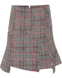 McQ - Plaid Wool-blend Miniskirt - Lyst