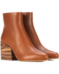 Gabriela Hearst - Tito Leather Ankle Boots - Lyst