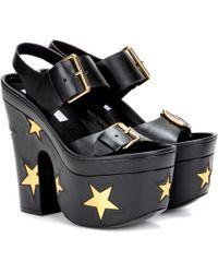 Stella McCartney - Embellished Platform Sandals - Lyst