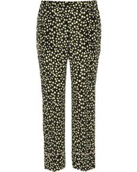N°21 - Star Printed Silk Pants - Lyst