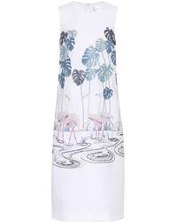 Victoria, Victoria Beckham - Vestido de crepé bordado - Lyst