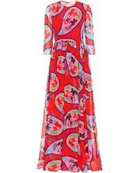 Delpozo - Printed Silk Maxi Dress - Lyst