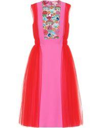 Delpozo Kleid mit Tüll